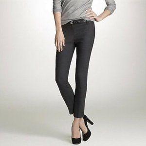 J Crew Minnie Pants 4 Gray Skinny Slim Stretch